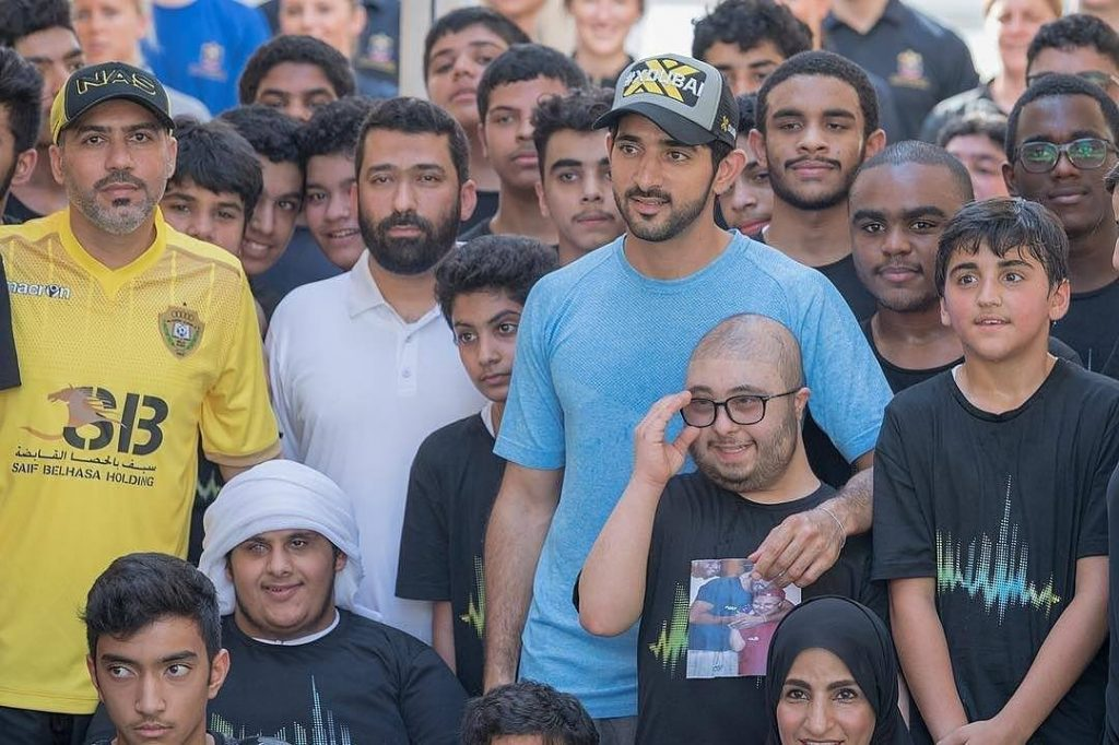 Picture of HH Crown Prince of Dubai along with other brave participants of the Dubai Challenge 2017